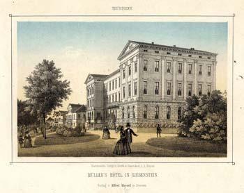 Lithographie ( m. farb. Tonplatte ) b. Meysel in Dresden, um 1850, 12 x 18,2.  Buchnummer des Verkäufers 98148