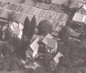 Haus Jahn, links Haus Plahs(Weißenborn), rechts oben Gärtnerei Bachmann