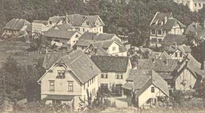 Bali 1909, zentral in der Mitte das ehemalige Gasthaus Zum Deutschen Kaiser