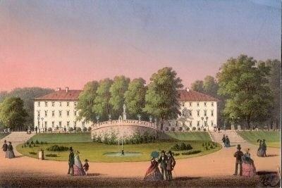 Kurhaus um 1850 - Repro W.Malek
