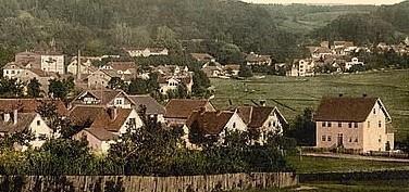 rechts Haus Haustein - Repro W.Malek