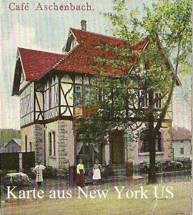 Café Aschenbach - Ansichtskarte 1912 gelaufen