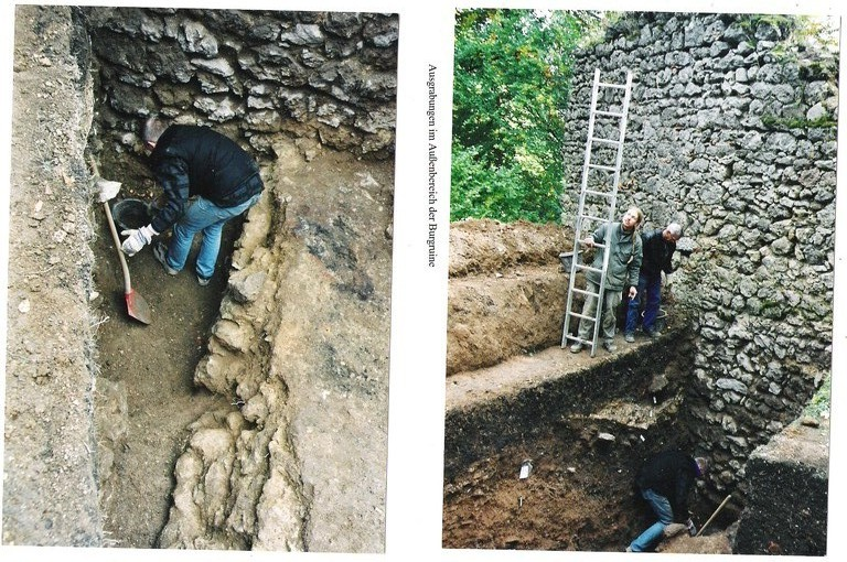 Ausgrabungen durch das archäologische Institut Weimar