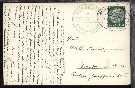 IMMELBORN-STEINBACH (KR MEININGEN) Zug 492 5.7.34 + Cachet vom 05.06.1934
