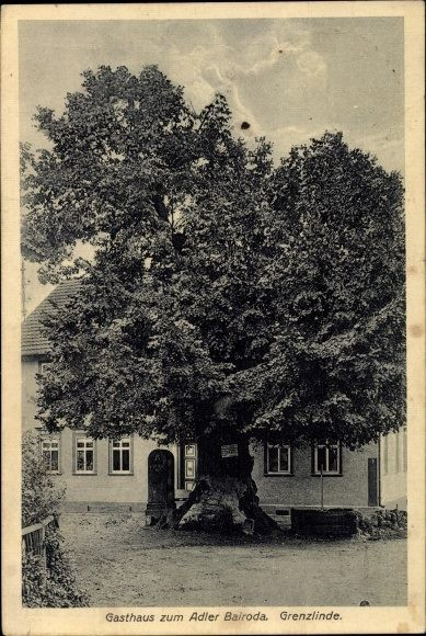 Grenzadler in Bairoda, alte AK von 1930 Recherche Jürgen Roth