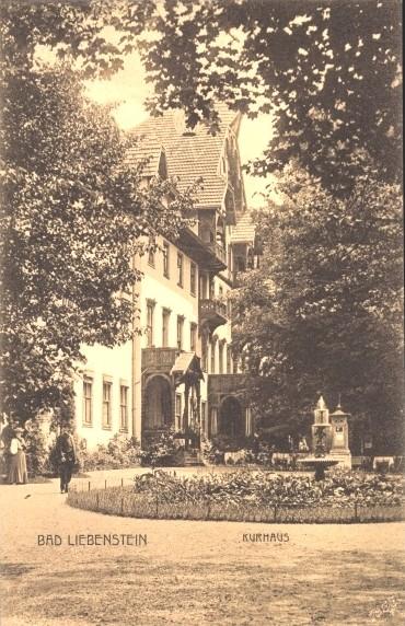 Kleines Rondel mit Brunnen am Kurhaus - Archiv W.Malek