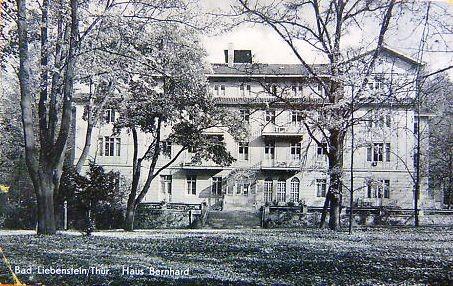 Kurheim Bernhard als Vertragshaus des Volksheilbades - Archiv W.Malek