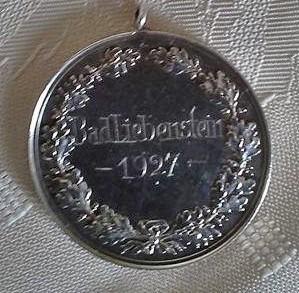 Medaille Schützenkönig 1927 - Besitz Christel Hoschka