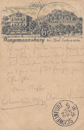 gelaufen 1891 - Recherche W.Malek