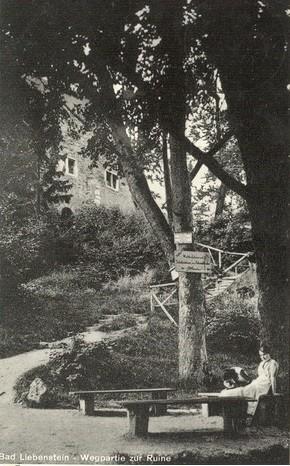 Burgzugang undatiert Mitte 20. Jahrhundert