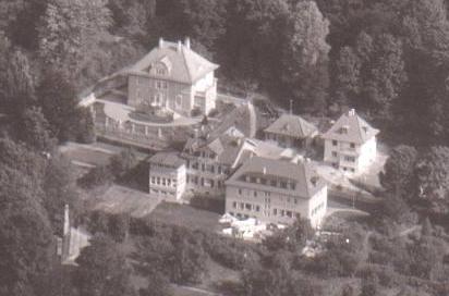links unten Gewächshaus Bohn, zentral Holsatia, links oben Haus Otto Luther, rechts Haus Lauterbach (Dr.Vogel) - Archiv W.Malek