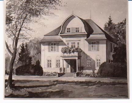 Aquarell der Heller Villa