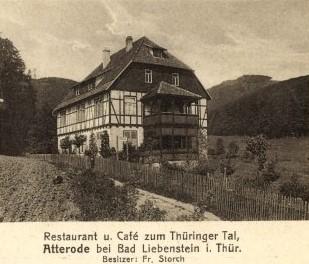 Landschaftskunstverlag O.Kley Bad Liebenstein in Thüringen mit Stempel: Bessre Blut, Herz und Nerven - Geh nach Liebenstein Karte gelaufen am 18.05.1930 -  Recherche Jürgen Roth