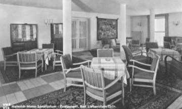 Heinrich-Mann-Sanatorium, Restaurant 1955 - Archiv W.Malek