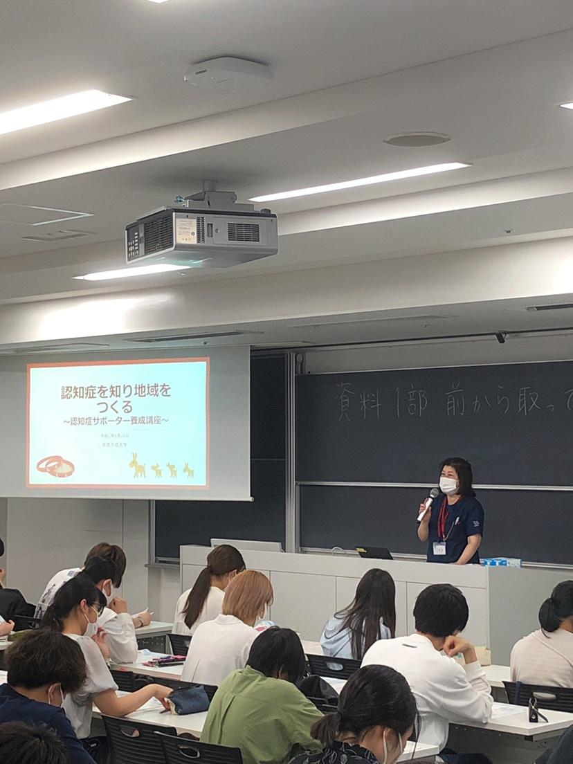 認知症サポーター養成講座の講義を行いました