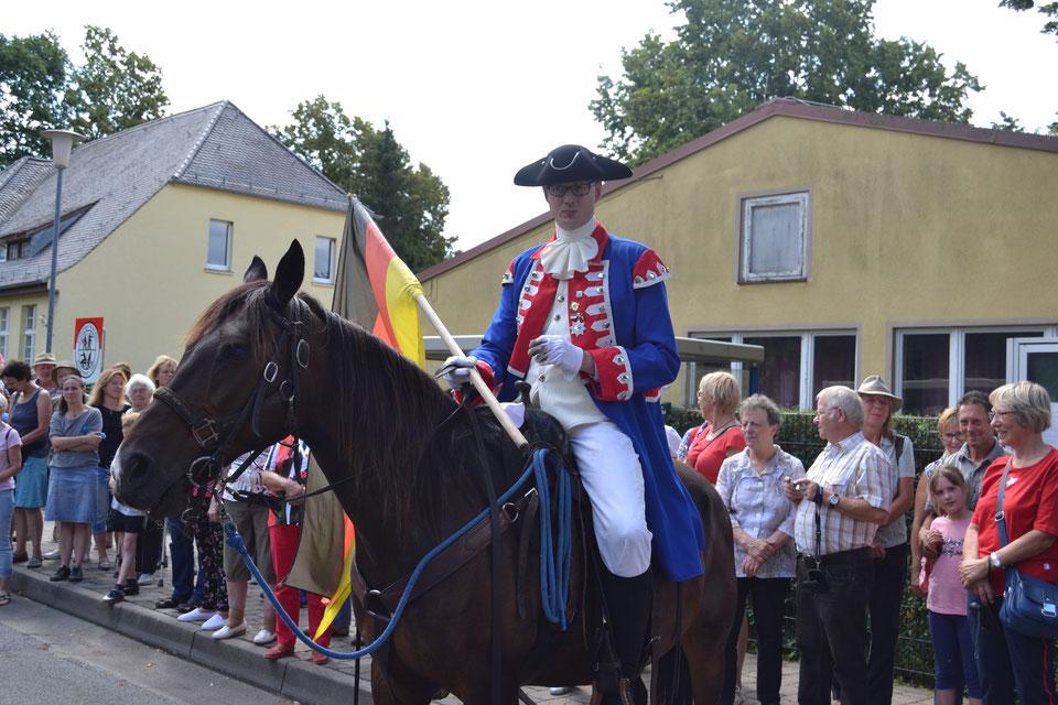 10.08.2019: Andreas Leppmann als Soldatenkönig.