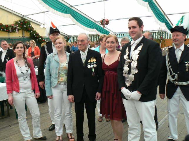 2012: Königspaar Tobias Kampmann und Marleen Lohmann