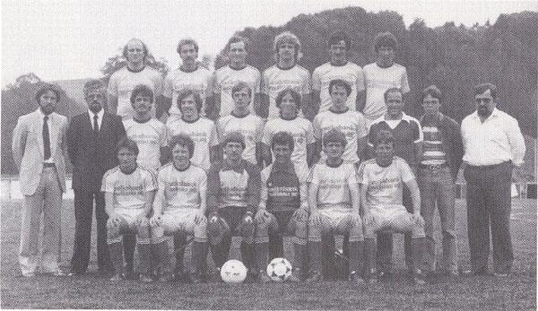 Mannschaftsfoto 1. Mannschaft, Vizemeister der Saison 1981/82