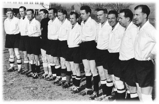 Anfangs 40er: v.l. 1. Steinger Toni, 5. Marbach Otto, 7. Kunz, 8. Sieger Julius, 9. Bachmann Albert, 10. Tolusso Anton