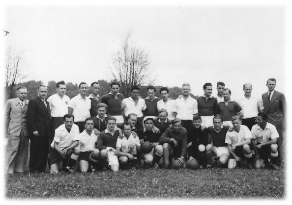 1945 Freundschaftsspiel gegen einen Gast aus Deutschland
