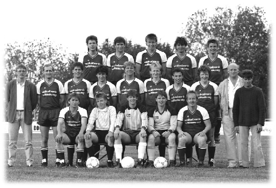 o. Reihe v. l.: T.Niffeler, C.Brun, T.Büchli, H.Müller, U.Buob; m. Reihe v. l.: E.Vonwil, W.Künzli, M. Brun, S.Anliker, R. Häfliger, T.Achermann, S.Müller, U.Häfliger, W.Bucher, A.Dossenbach; u. Reihe v. l.: J.Brun, B.Spiess, B.Arnold, P.Stauffer,H.Knecht