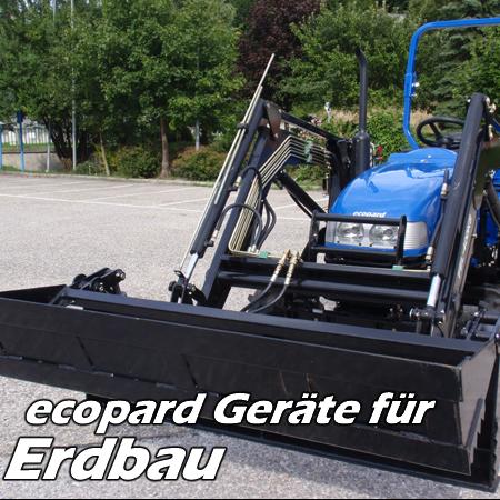 ecopard Kompakttraktoren Traktor-Anbaugeräte für den Erdbau