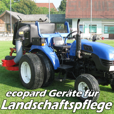ecopard Kompakttraktoren Traktor-Anbaugeräte für den Kommunaldienst und die Landschaftspflege