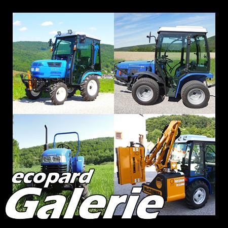 ecopard Kompakttraktoren und Traktor-Anbaugeräte Fotogalerie