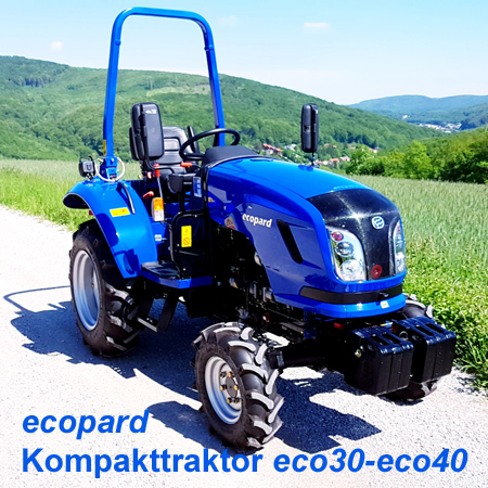 ecopard Kompakttraktor eco25-eco40-ds