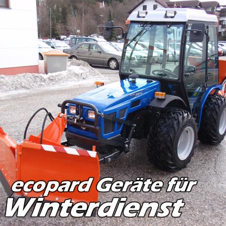 ecopard Kompakttraktoren Traktor-Anbaugeräte für den Winterdienst
