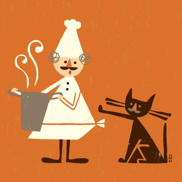 chef & cat