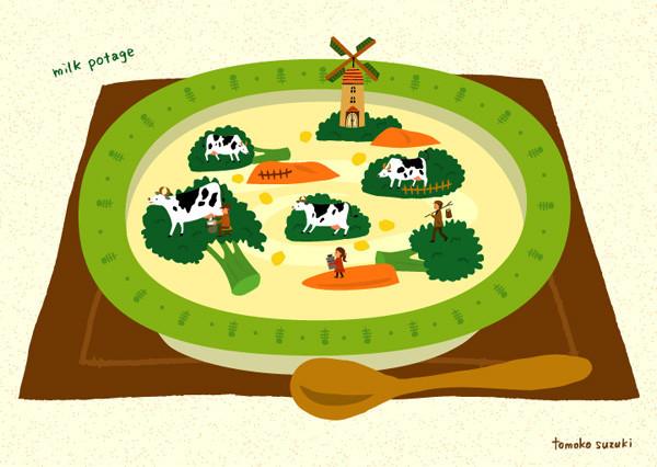 牧場のミルクポタージュ