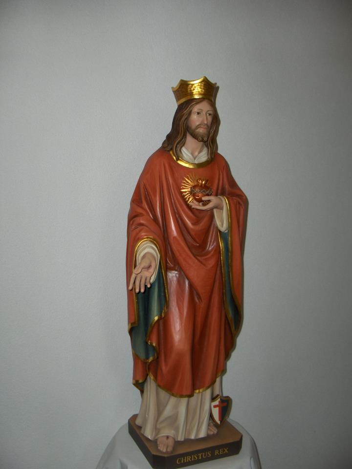 Unsere erste Patronatsstatue: Christus König!