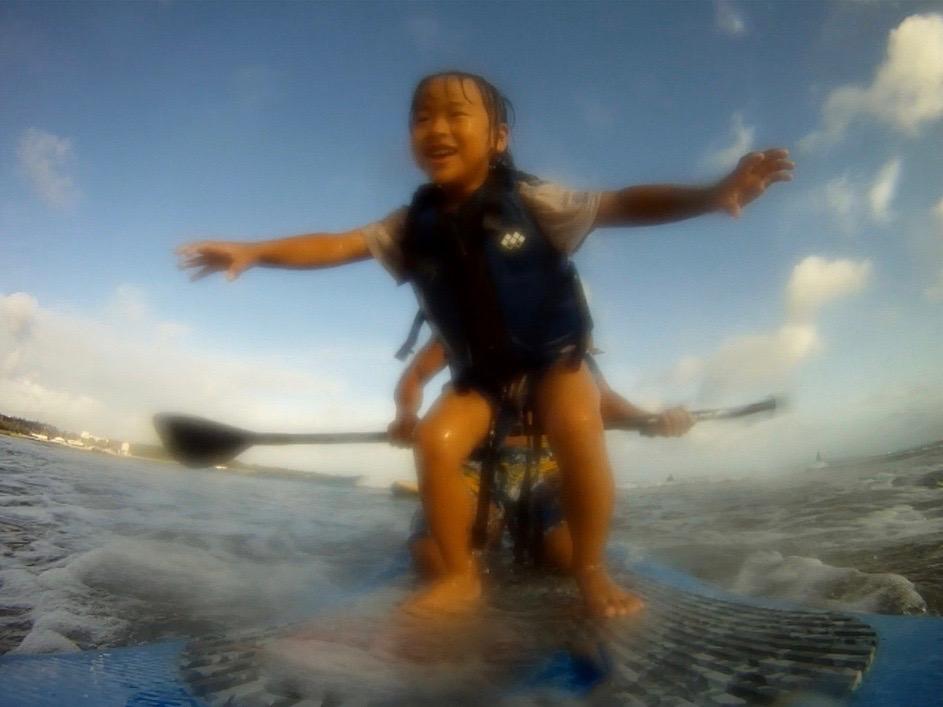 初めて海の上に立ち上がりました。(幼稚園の頃)