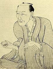 Portrait de Jippensha Ikku, par Kunisada.