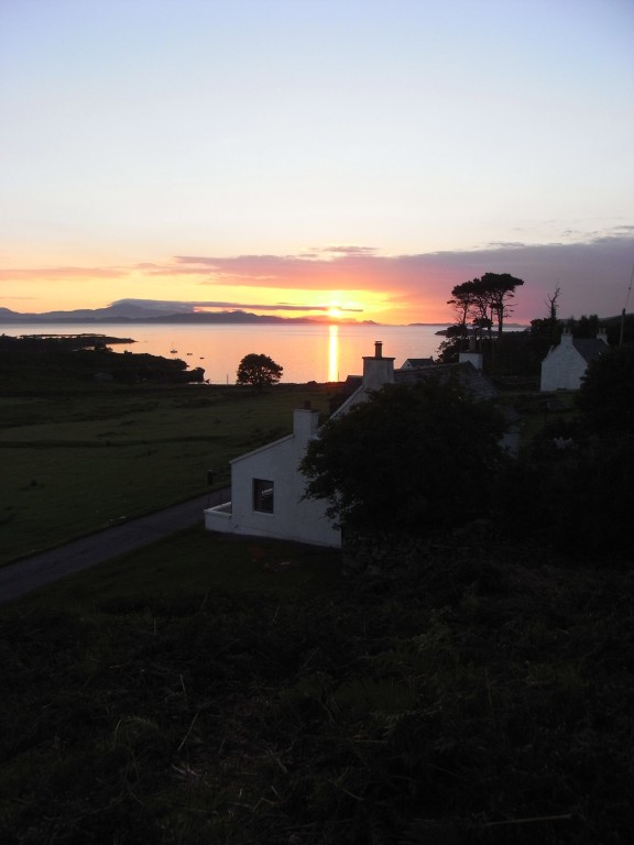 Sunset from behind the cottage