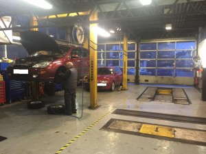 family run mechanics in Wheathampstead village, local business, this is their workshop repairing and maintaining vehicles for Wheathampstead residents