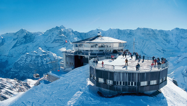 Piz Gloria, Schilthorn  (CH / BE), where part of the 007 James Bond, On Her Majesty's Secret Service (1969) was produced)