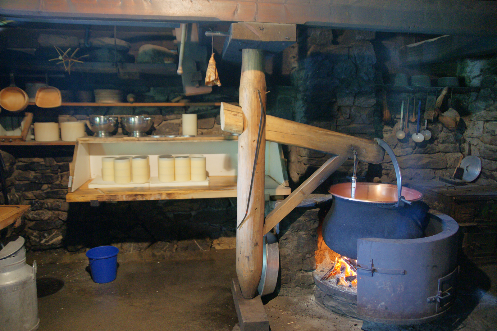 Cheese production, Ballenberg Museum, Brienz (CH / BE)