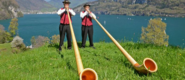 Alphorn duo - Rütli - where Switzerland was founded (1291 a.c).