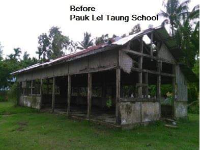 「Pauk Lel Taung School」のBAJによる支援前(BAJのHPから引用)