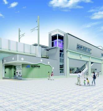新駅駅舎の完成イメージ