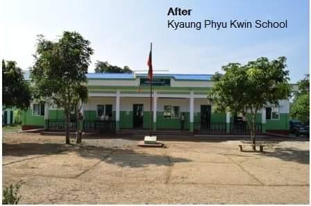 「Kyaung Phyu Kwin School」のBAJによる支援後(BAJのHPから引用)