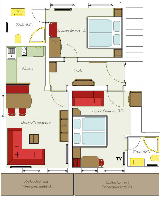 apartment 2 for 2-5 people