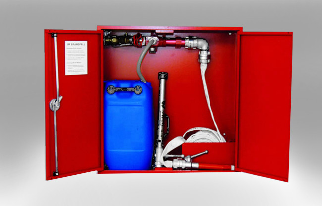 GGS Brandschutz - Schaum-Wasser-Wandhydranten