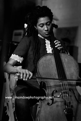 Tomeka Reid on cello with Jaimie Branch\Fly Or Die, ChicagoXLondon, Total Refreshment Centre, 18.10.17