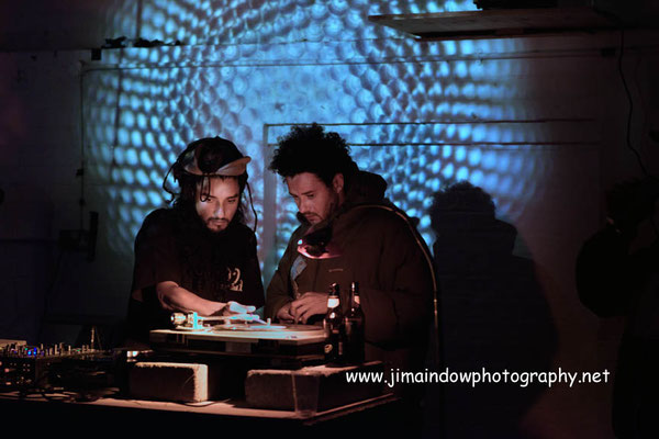 Jeen Bassa & Reginald Omas Mamonde IV of 23a Records playing dj set at Total Refreshment Centre, London 22.10.17