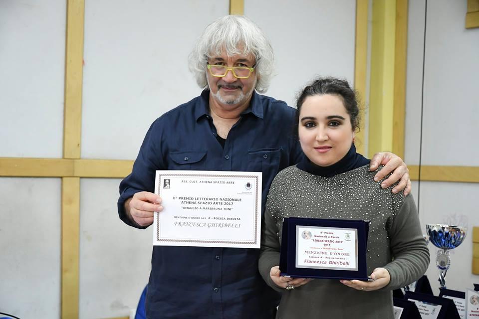 Menzione d'onore poesia inedita 8° edizione omaggio Maribruna Toni Athena Spazio Arte 2017.