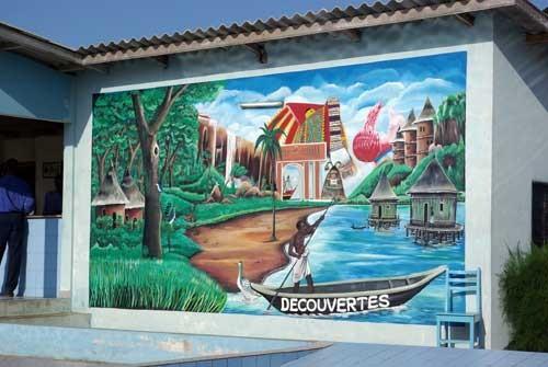 Une fresque de l'hotel le jardin Brésilien