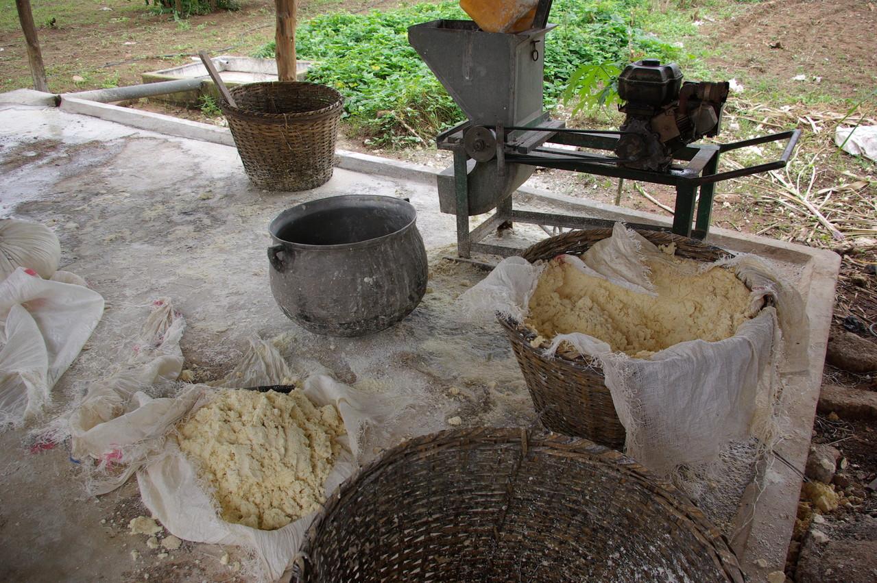 La fabrication du gari